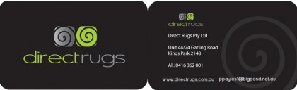 Direct Rugs Business Card
