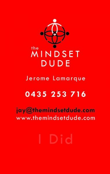 Mindset Dude Business Card Back