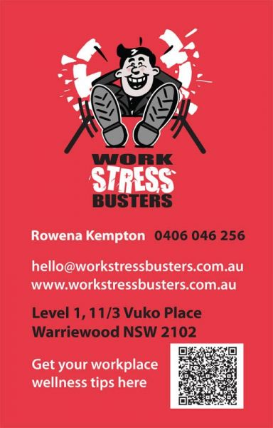Stress Busters Back BCard